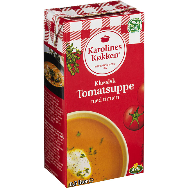 Tomatsuppe m. timian